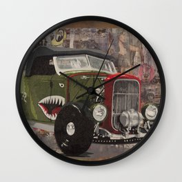 '32 Ford Roadster Warhawk Edition Wall Clock