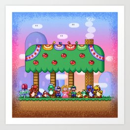 Super Mario World Happy Ending Art Print