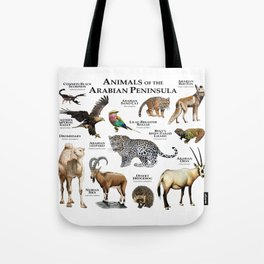 Animals of the Arabian Peninsula Tote Bag
