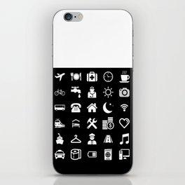Basic White model: Traveler emoticon help for travel t-shirt iPhone Skin