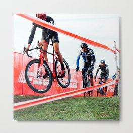 Cyclocross: Hover Metal Print