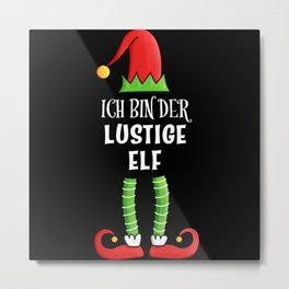 Lustige Elf Partnerlook Weihnachten Metal Print