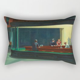 Nighthawks / Edward Hopper Rectangular Pillow
