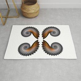 Fractal Art - Silver Spiral 4 Rug