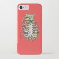 garden iPhone & iPod Cases featuring Grenade Garden by Huebucket