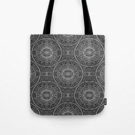 Tangled Mandala Pattern Tote Bag