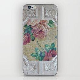 Antique Ceiling Tile * Art tile * Victorian Roses iPhone Skin
