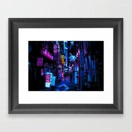 Tokyo's Blade Runner Vibes Framed Art Print