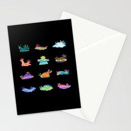 Sea slug - black Stationery Cards