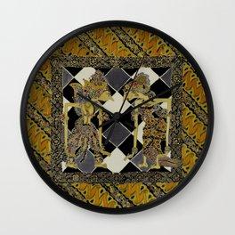 Batik Rama Sinta Wall Clock