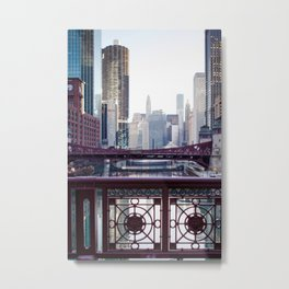 Chicago River Walk Metal Print