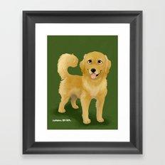Golden Dog Framed Art Print