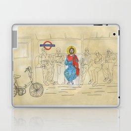 Jesus on the Tube, He is among us Laptop & iPad Skin