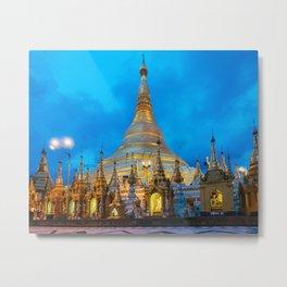 Shwedagon Pagoda Metal Print