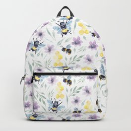 Watercolor Bees and florals | Save the bees Backpack