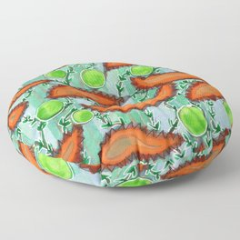 Hot Peppers and Crisp Peas Pattern Floor Pillow