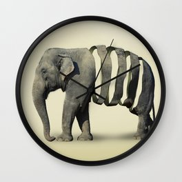 Ribbon Elephant Wall Clock