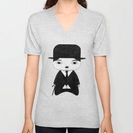A Boy - Charlie Chaplin (B&W) Unisex V-Neck