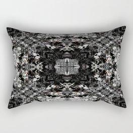 Black, White and Gray All Over Rectangular Pillow