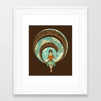 nouveau Framed Art Prints featuring Welcome to My World by Enkel Dika