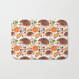 Autumn Hedgehog Bath Mat
