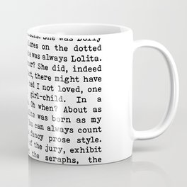 Light Of My Life, Love Declaration, Quote By Vladimir Nabokov, Lolita, Life Creativity And Motivate Coffee Mug