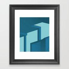 Geometric glimpses Framed Art Print