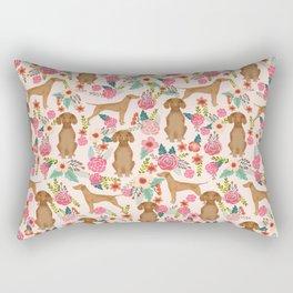 Vizsla florals dog pattern dog gifts dog breeds pet portraits by pet friendly Rectangular Pillow