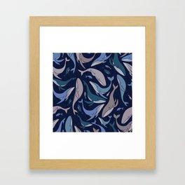 A school of whales Framed Art Print