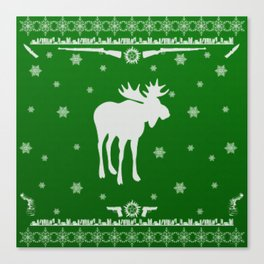 Supernatural Sam Holiday Sweater Canvas Print