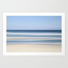 peaceful blue beach Art Print