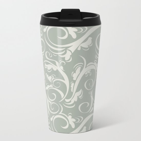 Flora Oyster Bay Metal Travel Mug