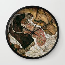 """Egon Schiele """"Death And The Maiden"""" Wall Clock"""