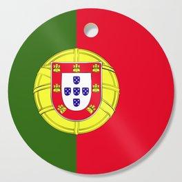 Portugal flag emblem Cutting Board