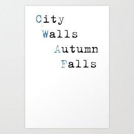 City Walls Autumn Falls Baby Onsie Art Print