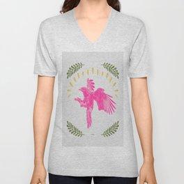 Pink Falcon Unisex V-Neck