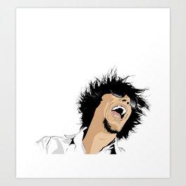 WILD HAIR II Art Print