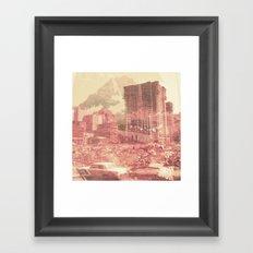 Crumble Mountain Framed Art Print