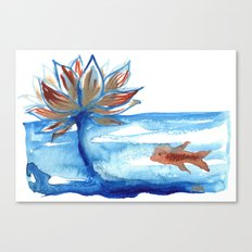 The Lotus and the Goldfish Canvas Print