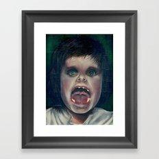 little big mouth Framed Art Print