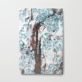 Split Wood Textile Metal Print