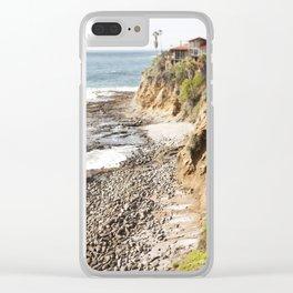 Cliffs Along the Palos Verdes Hills Clear iPhone Case