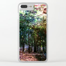 Bright Starry Forest Clear iPhone Case
