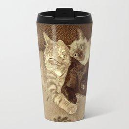 Vintage Kitties Travel Mug