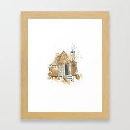 Hagrid's Hut Framed Art Print