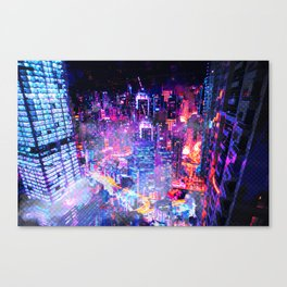 Cyberpunk City Canvas Print