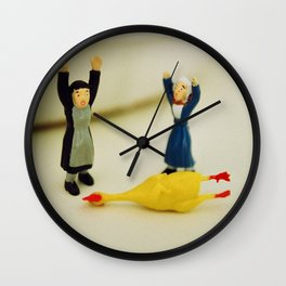 HANDS UP - who killed the chicken? Wall Clock