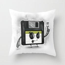 Floppy Disc Dave Throw Pillow