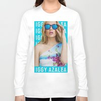 iggy azalea Long Sleeve T-shirts featuring Iggy Azalea Blue by Illuminany