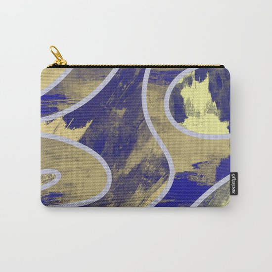 Textured Segments - Abstract, textured painting Carry-All Pouch